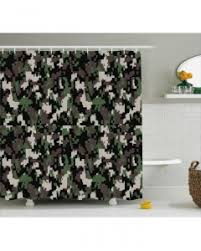 Camouflage Bathroom Camo Shower Curtain Glass Effect Abstract Army Print For Bathroom