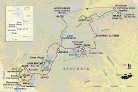 Map Of Ethiopia Tours Of Ethiopia