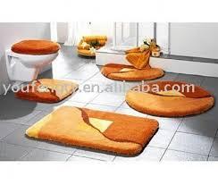 Orange Bathroom Rugs Bathroom Rugs 5 Piece International Decor Colorful Yellow Orange