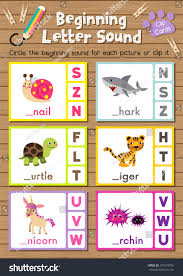clip cards matching game beginning letter stock vector 574218742