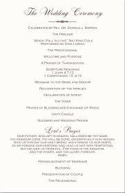 Wedding Bulletins Examples 28 Christian Wedding Programs Free Wedding Ceremony Program