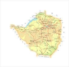 Zimbabwe Map Maps World Map Zimbabwe