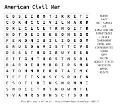 download word search on american civil war