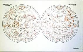 Mars Map Outline Map Digital Museum Of Planetary Mapping