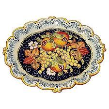 painted serving platters ceramiche d arte parrini italian ceramic serving