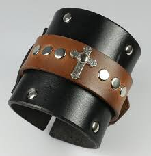 leather wrist bracelet images Leather wristbands and bracelets for men or woman leatherpunk jpg