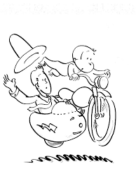 curious george ride a bike coloring page netart