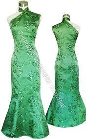 sea green qipao full length chinese dresses pinterest
