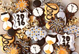 Happy New Year Board Decoration by Decorated Clock Cookies For New Year U0027s Eve Lilaloa Decorated