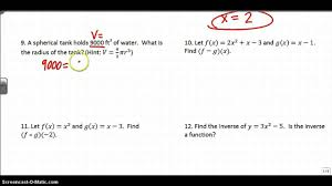 algebra 2 final exam review part 1 youtube