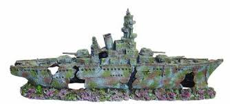 xl ww2 battleship aquarium ornament 2 part aquarium