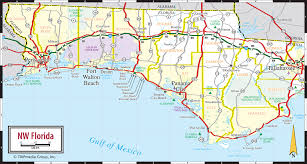 Counties Of Florida Map by Map Of Florida Panhandle Counties Map Of Florida Panhandle Map