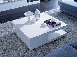 table basse carrée orchis mdf laqué blanc 56890