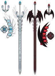 blueeyes and redeyes swords by mistress darkloki on deviantart