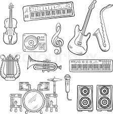 musical instruments seamless pattern with drum set acoustic and