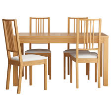 modern kitchen tables and chairs kitchen awbörje bjursta table and 4 chairs oak veneer gobo white