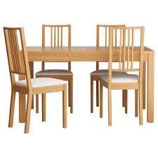 modern kitchen table set kitchen awbörje bjursta table and 4 chairs oak veneer gobo white