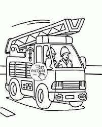 print coloring image dump trucks free printables embroidery
