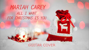 all i want for christmas is you electric guitar rock cover youtube