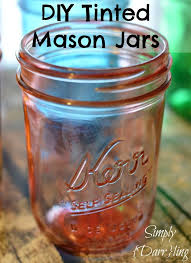 How To Use Mason Jars For Decorating Best 25 Tinting Mason Jars Ideas On Pinterest Tinting Mason