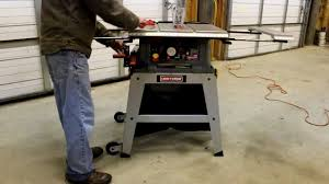 craftsman 10 portable table saw how to assemble craftsman 10 table saw model 21807 youtube