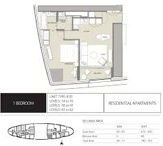 High End Home Plans by Emaar The Address Residences Jumeirah Resort Spa Floor Plans