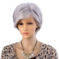 best shoo for gray hair for women women short wigs for old women synthetic grey hair straight style