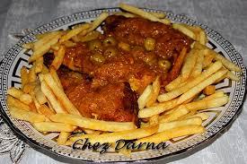 cuisine marocaine poulet aux olives poulet aux frites et olives دجاج بالزيتون و الفريت darna