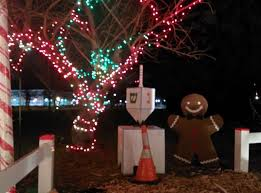 dreidel lights christmas lights on a map in livingston dreidel at camuso family