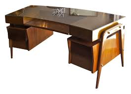 Curved Office Desk by Mid Century Curved Glass Top Desk Mid Century Desks Pinterest
