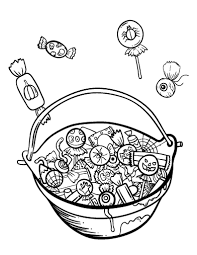free halloween candy coloring page