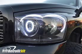02 dodge ram headlights 2002 2005 dodge ram matte black custom headlights bi xenon hid