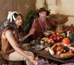 scena reenactment della cena prima ringraziamento a plymouth