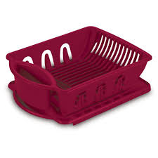 Dishes Rack Drainer Sterilite Utility Sink Set 2 Piece 06215806 The Home Depot