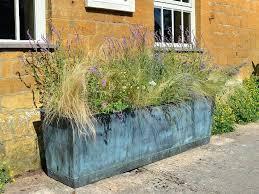 zinc garden planter zinc planters large zinc outdoor planters