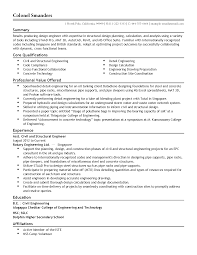 Sample Resume For Experienced Civil Engineer by Residential Structural Engineer Sample Resume