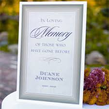 in memory of wedding program in loving memory personalized poster memorial candles frames