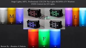 best dj lights 2017 best wireless dj par light youtube