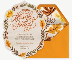 thanksgiving invitations evite free online thanksgiving dinner invitations