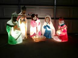 Christmas Outdoor Decorations Nativity nativity scene lighted yard displays christmas wikii