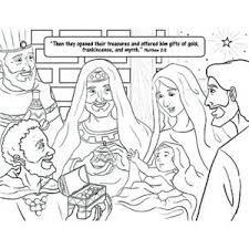 free coloring matthew 2 11 christmas catholicism
