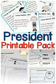 printable president worksheets for kids in 3rd 5th grade