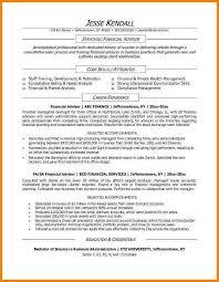 sample financial advisor resume resume advisor academic advisor