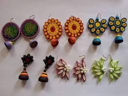 quilling earrings set manufacturer from villupuram