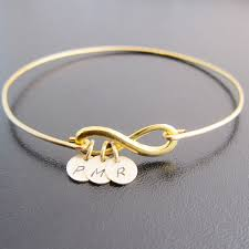 Infinity Bracelet With Initials 3 Best Friend Gift Good Bye Or Long Distance Infinity
