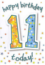 boys 11th happy birthday card 11 today 2 x cards to choose