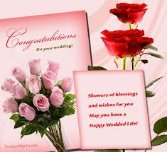 wedding wishes and blessings congratulations on your wedding shower of blessings and wishes for