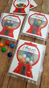 valentines for valentines for kids gumball machine free card