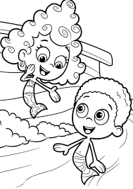 gobby and deema bubble guppies coloring pages cartoon coloring