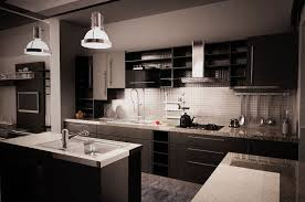 Modern Kitchen Tile Backsplash Ideas Walls Interiors Contemporary Black Kitchen Granite Countertops